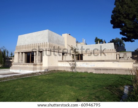 LOS ANGELES  - FEBRUARY 25:  Frank Lloyd Wright's landmark Hollyhock House, owned by City of LA, survives despite budget shortfalls on Febuary 25, 2010 in Los Angeles, California.