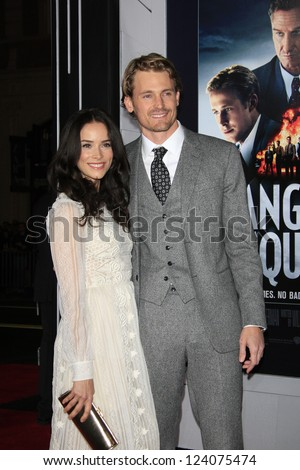 LOS ANGELES - JAN 7: Abigail Spencer, Josh Pence at Warner Bros. Pictures' 'Gangster Squad' premiere at Grauman's Chinese Theater on January 7, 2013 in Los Angeles, California