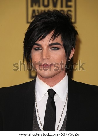 LOS ANGELES - JAN 15:  Adam Lambert arrives to the 15th Annual Critics Choice Movie Awards  on January 10,2011 in Hollywood, CA