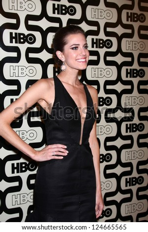 LOS ANGELES - JAN 13:  Allison Williams arrives at the 2013 HBO Post Golden Globe Party at Beverly Hilton Hotel on January 13, 2013 in Beverly Hills, CA..