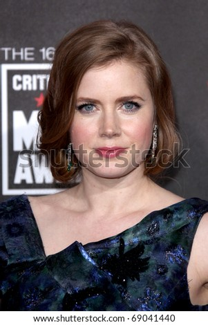 LOS ANGELES - JAN 14: Amy Adams arrives at the 16th Annual Critics' Choice Movie Awards at the Hollywood Palladium on January 14, 2011 in Los Angeles, CA
