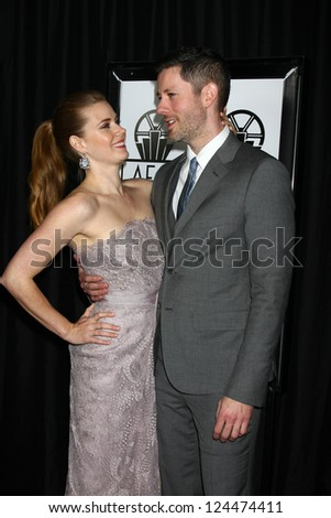 LOS ANGELES - JAN 12:  Amy Adams, Darren Le Gallo arrives at the 2013 LA Film Critics Awards at InterContinental Hotel on January 12, 2013 in Century City, CA - stock photo