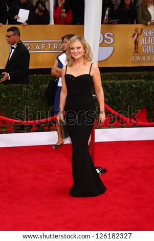 LOS ANGELES JAN 27 Amy Poehler arrives at the 2013 Screen Actor's Guild Awards at the Shrine Auditorium on January 27 2013 in Los Angeles CA