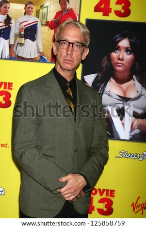 "LOS ANGELES - JAN 23:  Andy Dick arrives at the ""Movie 43"" Los Angeles Premiere at Chinese Theater on January 23, 2013 in Los Angeles, CA"