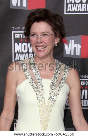 LOS ANGELES - JAN 14: Annette Bening arrives at the 16th Annual Critics' Choice Movie Awards at the Hollywood Palladium on January 14, 2011 in Los Angeles, CA
