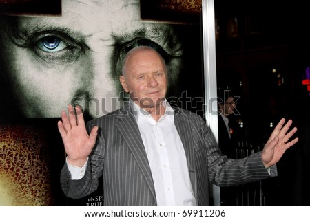 "LOS ANGELES - JAN 26:  Anthony Hopkins arrives at ""The Rite"" Premiere at Grauman's Chinese Theater on January 26, 2011 in Los Angeles, CA"