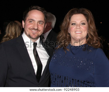 LOS ANGELES - JAN 7:  Ben Falcone; Melissa McCarthy arrives at the 2012 Palm Springs International Film Festival Gala at Palm Springs Convention Center on January 7, 2012 in Palm Springs, CA