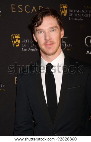 LOS ANGELES - JAN 14:  Benedict Cumberbatch arrives at  the BAFTA Award Season Tea Party 2012 at Four Seaons Hotel on January 14, 2012 in Beverly Hills, CA