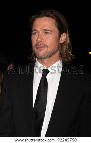 LOS ANGELES - JAN 7:  Brad Pitt arrives at the 2012 Palm Springs International Film Festival Gala at Palm Springs Convention Center on January 7, 2012 in Palm Springs, CA