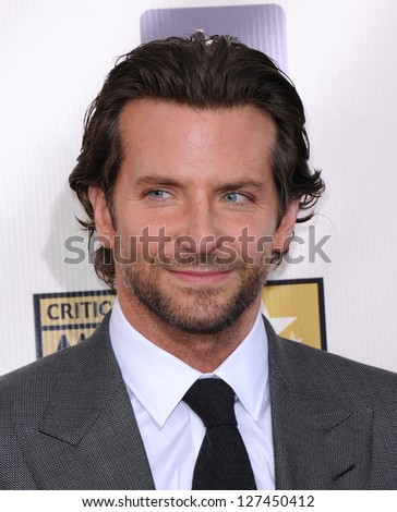 "LOS ANGELES - JAN 10:  Bradley Cooper arrives to the ""Critic's Choice Awards 2013  on January 10, 2013 in Santa Monica, CA"
