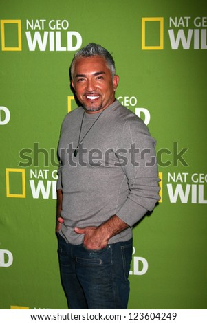 """LOS ANGELES - JAN 3:  Cesar Millan arrives at the National Geographic Channels' """"2013 Winter TCA"""" Cocktail Party. at Langham Huntington Hotel on January 3, 2013 in Pasadena, CA - stock photo"""