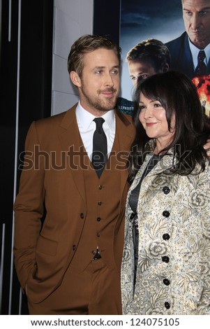 LOS ANGELES - JAN 7: Donna Gosling, Ryan Gosling at Warner Bros. Pictures' 'Gangster Squad' premiere at Grauman's Chinese Theater on January 7, 2013 in Los Angeles, California