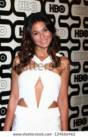 LOS ANGELES - JAN 13:  Emmanuelle Chriqui arrives at the 2013 HBO Post Golden Globe Party at Beverly Hilton Hotel on January 13, 2013 in Beverly Hills, CA..