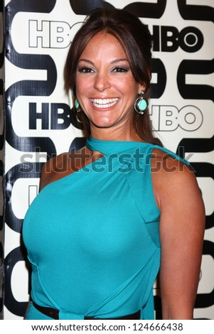 LOS ANGELES - JAN 13:  Eva LaRue arrives at the 2013 HBO Post Golden Globe Party at Beverly Hilton Hotel on January 13, 2013 in Beverly Hills, CA.. - stock photo