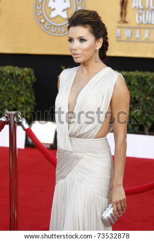 LOS ANGELES - JAN 30:  Eva Longoria arrives at the The 17th Annual SAG Awards in Los Angeles, California on January 3, 2011.
