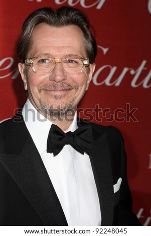 LOS ANGELES - JAN 7:  Gary Oldman arrives at the 2012 Palm Springs International Film Festival Gala at Palm Springs Convention Center on January 7, 2012 in Palm Springs, CA