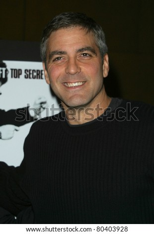 "LOS ANGELES - JAN 7: George Clooney at the American Cinematheque discussion and screening of 'Confessions of a Dangerous Mind"" at the Egyptian Theater in Los Angeles, California on January 7, 2003"
