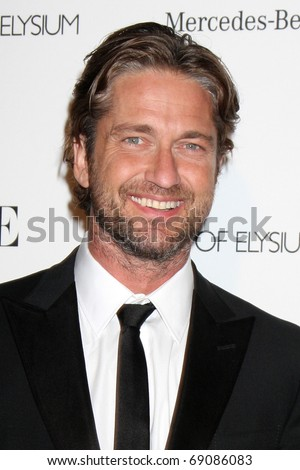 LOS ANGELES - JAN 15:  Gerard Butler arrives at the Art Of Elysium 'Heaven' Gala 2011 at The California Science Center Exposition Park  on January 15, 2011 in Los Angeles, CA