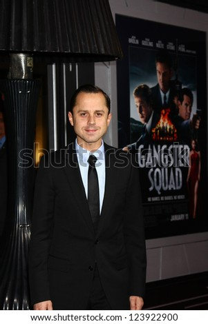 LOS ANGELES - JAN 7:  Giovanni Ribisi arrives at the 'Gangster Squad' Premiere at Graumans Chinese Theater on January 7, 2013 in Los Angeles, CA