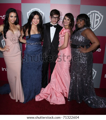 "LOS ANGELES - JAN 16:  ""Glee"" Cast arrives to the 12th Annual WB-In Style Golden Globe After Party  on January 16, 2011 in Beverly Hills CA"