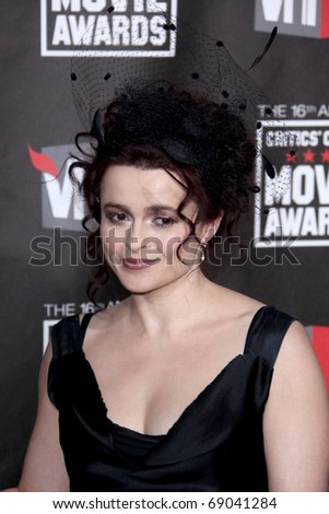 LOS ANGELES - JAN 14: Helena Bonham Carter arrives at the 16th Annual Critics' Choice Movie Awards  at the Hollywood Palladium on January 14, 2011 in Los Angeles, CA