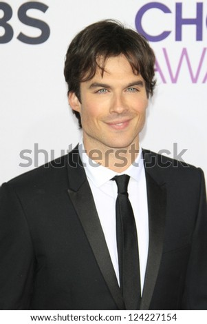 LOS ANGELES - JAN 9: Ian Somerhalder at the 39th Annual People's Choice Awards at Nokia Theater L.A. Live on January 9, 2013 in Los Angeles, California