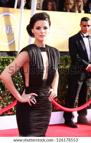 LOS ANGELES JAN 27 Jaime Alexander arrives at the 2013 Screen Actor's Guild Awards at the Shrine Auditorium on January 27 2013 in Los Angeles CA