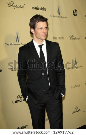 LOS ANGELES - JAN 13:  James Marsden arrives at the 2013 Weinstein Post Golden Globe Party at Beverly Hilton Hotel on January 13, 2013 in Beverly Hills, CA..