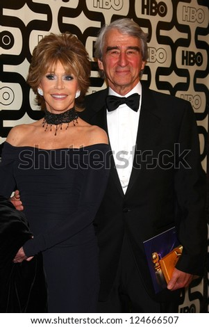 LOS ANGELES - JAN 13:  Jane Fonda, Sam Waterson arrives at the 2013 HBO Post Golden Globe Party at Beverly Hilton Hotel on January 13, 2013 in Beverly Hills, CA..