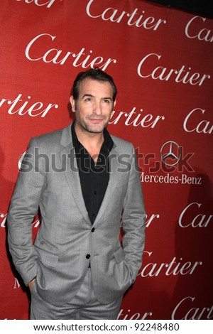LOS ANGELES - JAN 7:  Jean Dujardin arrives at the 2012 Palm Springs International Film Festival Gala at Palm Springs Convention Center on January 7, 2012 in Palm Springs, CA