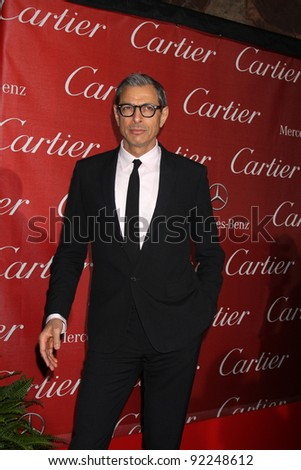LOS ANGELES - JAN 7:  Jeff Goldblum arrives at the 2012 Palm Springs International Film Festival Gala at Palm Springs Convention Center on January 7, 2012 in Palm Springs, CA