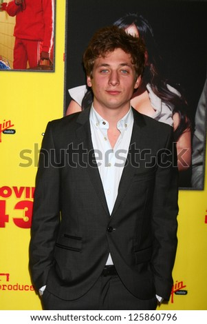 """LOS ANGELES - JAN 23:  Jeremy Allen White arrives at the """"Movie 43"""" Los Angeles Premiere at Chinese Theater on January 23, 2013 in Los Angeles, CA - stock photo"""