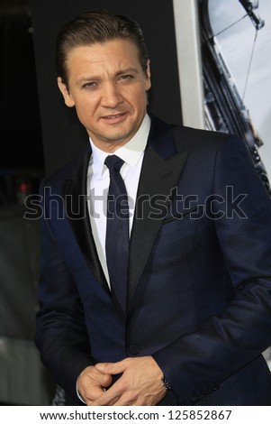 LOS ANGELES - JAN 23: Jeremy Renner at the LA premiere of Paramount Pictures' 'Hansel And Gretel: Witch Hunters' at Grauman's Chinese Theater on January 24, 2013 in Los Angeles, California