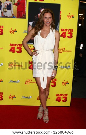 Los angeles jan 23 jill wagner at the quot movie 43 quot los angeles