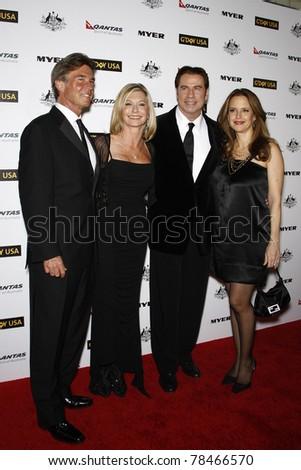 LOS ANGELES - JAN 22: John Easterling, Olivia Newton John, John Travolta and Kelly Preston at the 2011 G'Day USA Australia Week LA Black Tie Gala in Los Angeles, California on  January 22, 2011.