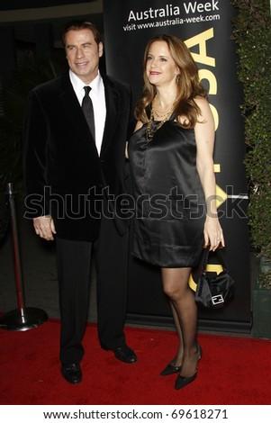 LOS ANGELES - JAN 22:  John Travolta and Kelly Preston arrives at the 2011 G'Day USA Australia Week LA Black Tie Gala at Hollywood Palladium on January 22, 2011 in Los Angeles, CA