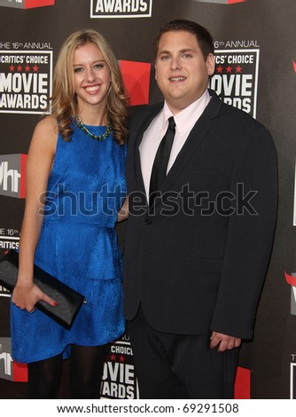 "LOS ANGELES - JAN 14:  Jonah Hill & Jordan Klein arrive at the 16th Annual ""Critics"" Choice Movie Awards  on January 14, 2011 in Los Angeles, CA"