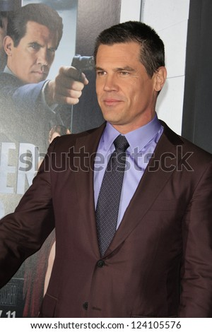 LOS ANGELES - JAN 7: Josh Brolin at Warner Bros. Pictures' 'Gangster Squad' premiere at Grauman's Chinese Theater on January 7, 2013 in Los Angeles, California
