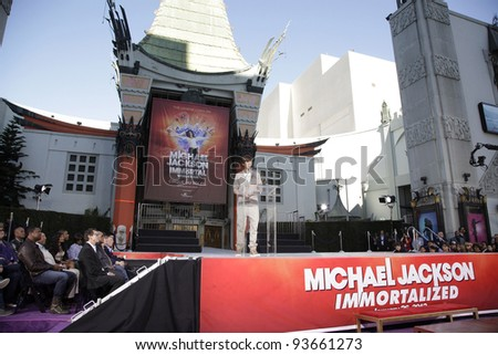 LOS ANGELES - JAN 26: Justin Bieber at the hand and footprint ceremony honoring musician Michael Jackson at Grauman's Chinese Theater on January 26, 2012 in Los Angeles, California