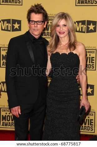 LOS ANGELES - JAN 15:  Kevin Bacon & Kyra Sedgwick arrives to the 15th Annual Critics Choice Movie Awards  on January 10,2011 in Hollywood, CA