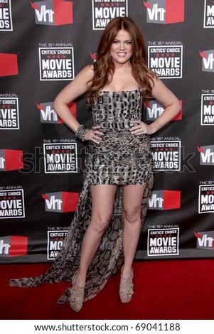 LOS ANGELES - JAN 14: Khloe Kardashian arrives at the 16th Annual Critics' Choice Movie Awards at the Hollywood Palladium on January 14, 2011 in Los Angeles, CA