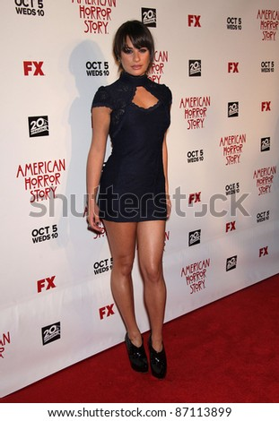"""LOS ANGELES - JAN 16:  Lea Michele arrives to the """"American Horror Story"""" Los Angeles Premiere  on October 3,2011 in Hollywood, CA"""