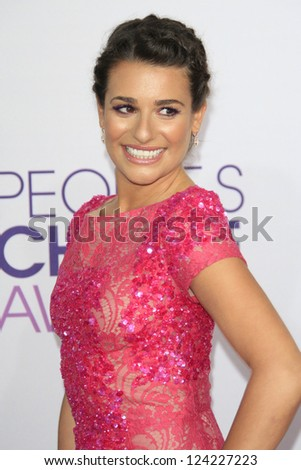 LOS ANGELES - JAN 9: Lea Michele at the 39th Annual People's Choice Awards at Nokia Theater L.A. Live on January 9, 2013 in Los Angeles, California