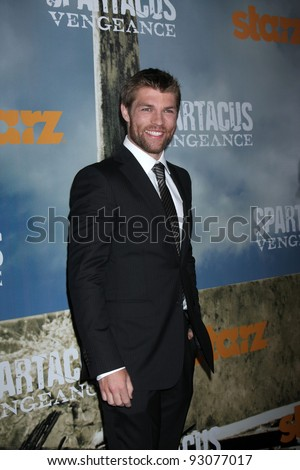 "LOS ANGELES - JAN 18:  Liam McIntyre. arrives at  the ""Spartacus: Vengeance"" Screening of the STARZ Series Season 3 Premiere at ArcLight Theaters on January 18, 2012 in Los Angeles, CA"