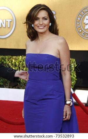 LOS ANGELES - JAN 30:  Mariska Hargitay arrives at the The 17th Annual SAG Awards in Los Angeles, California on January 3, 2011.