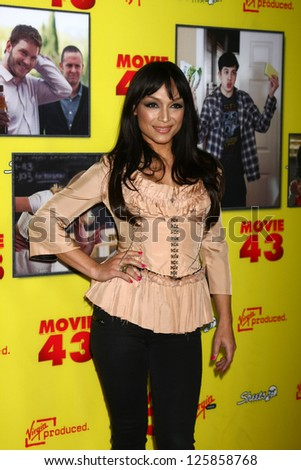"""LOS ANGELES - JAN 23:  Mayte Garcia arrives at the """"Movie 43"""" Los Angeles Premiere at Chinese Theater on January 23, 2013 in Los Angeles, CA - stock photo"""