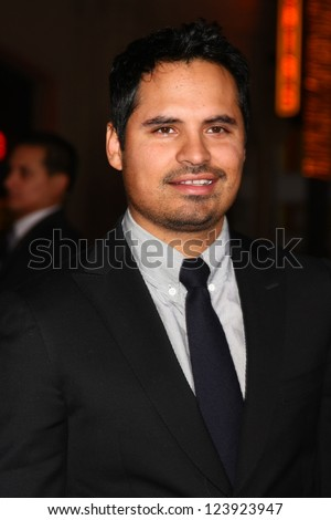 LOS ANGELES - JAN 7:  Michael Pena arrives at the 'Gangster Squad' Premiere at Graumans Chinese Theater on January 7, 2013 in Los Angeles, CA