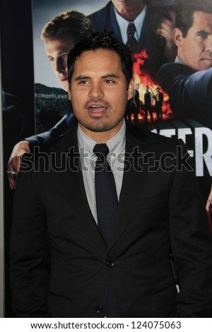 LOS ANGELES - JAN 7: Michael Pena at Warner Bros. Pictures' 'Gangster Squad' premiere at Grauman's Chinese Theater on January 7, 2013 in Los Angeles, California