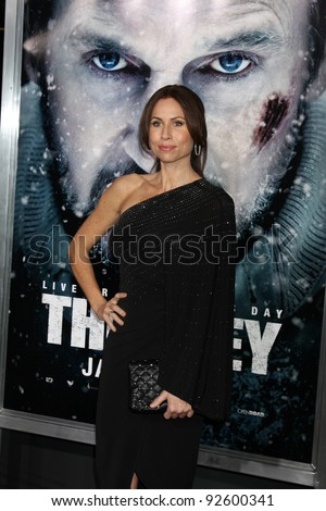 """LOS ANGELES - JAN 11:  Minnie Driver arrives at """"The Grey"""" Premiere at Regal Theater at LA Live on January 11, 2012 in Los Angeles, CA"""