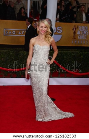 LOS ANGELES - JAN 27:  Naomi Watts arrives at the 2013 Screen Actor's Guild Awards at the Shrine Auditorium on January 27, 2013 in Los Angeles, CA